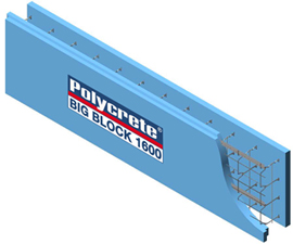 The Polycrete Big Block Icf System Is Manufactured With A